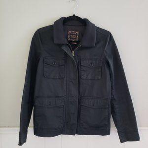 JCREW Black Washed & Faded Cargo Jacket